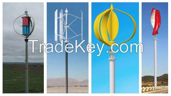 Low Start Wind Speed Maglev Vertical Axis Wind Turbine (Maglev VAWT) 300W-100kw