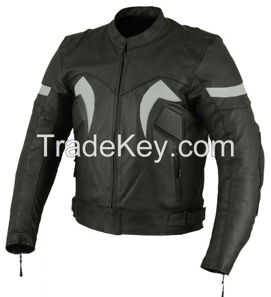 New Style Motorcycle Racing Cow hide Leather Jacket CE Approved Armours All Sizes