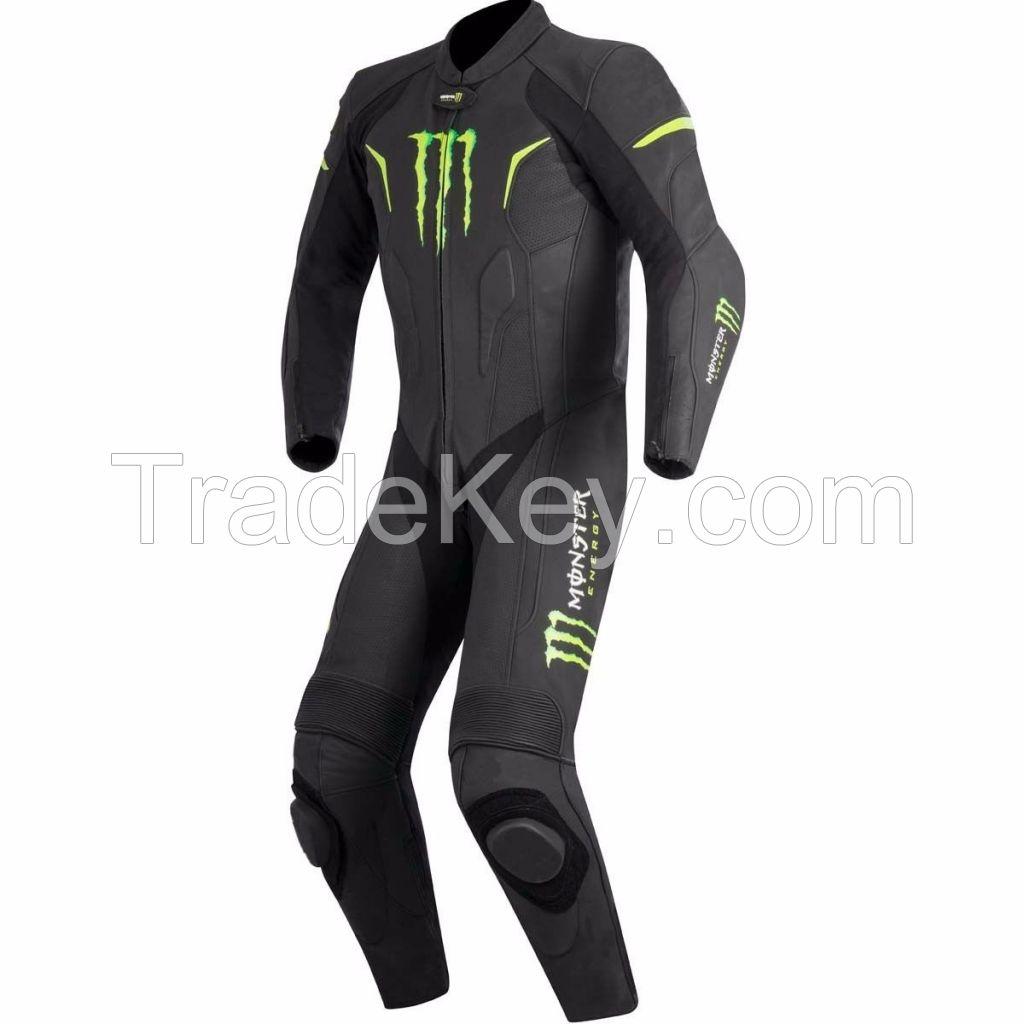 Monster Motorcycle Suit Biker Leather Suit Racing Leather Suit ALL SIZE AU