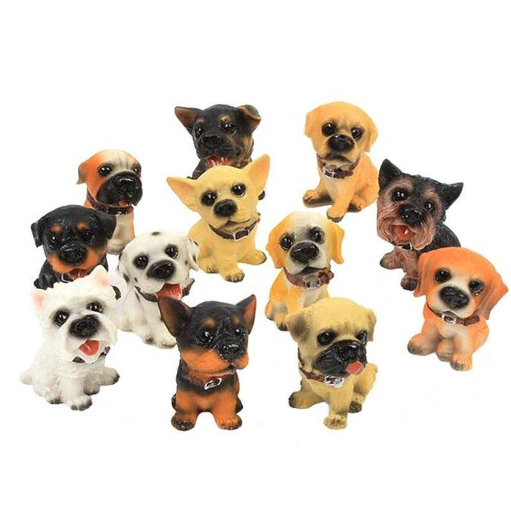 OEM mini dogs figurines cute little resin puppy toys dog crafts for creative home dollhouse desk car decorations garden ornaments factory customized