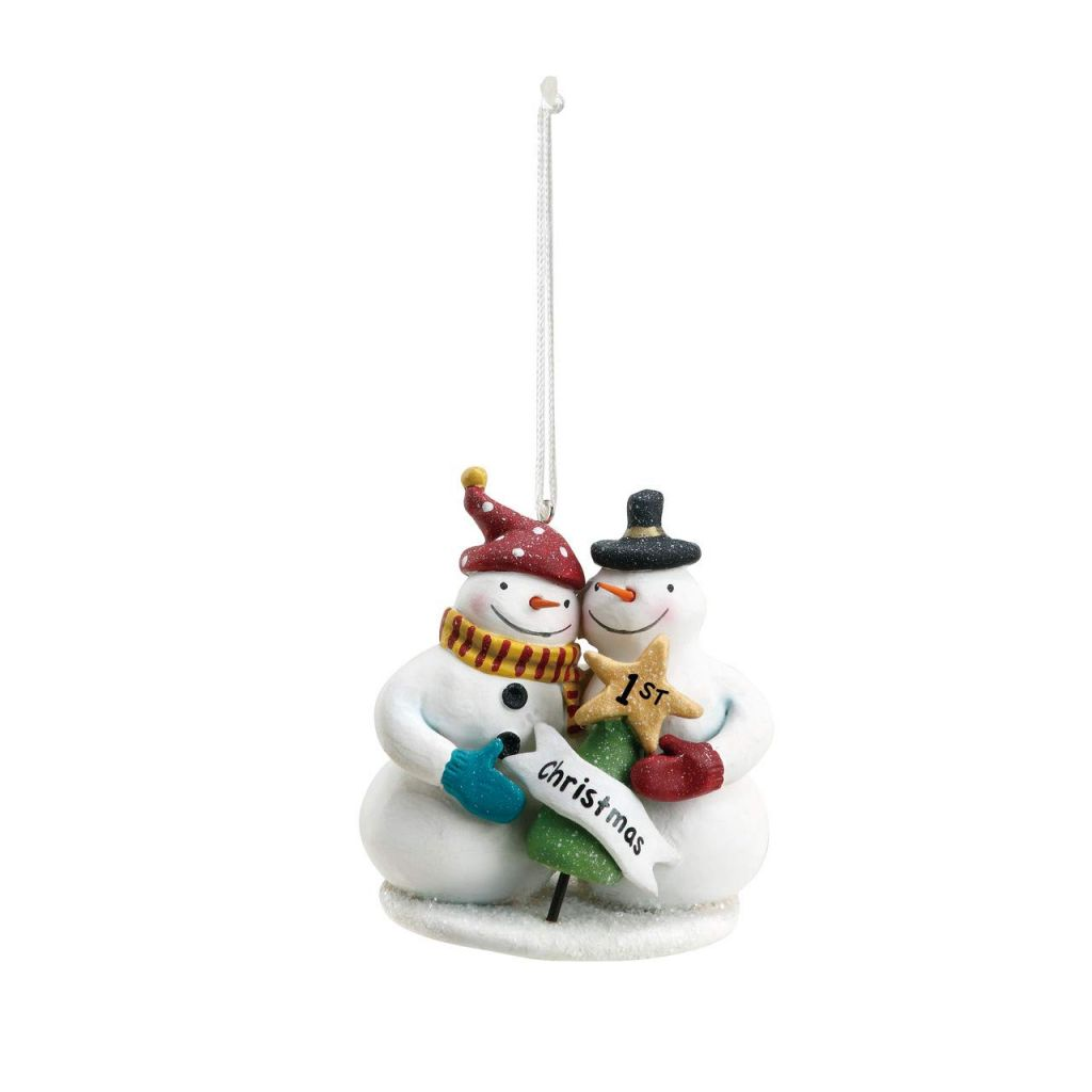 OEM design artificial resin christmas snowman resin christmas ornament christmas party gift decor