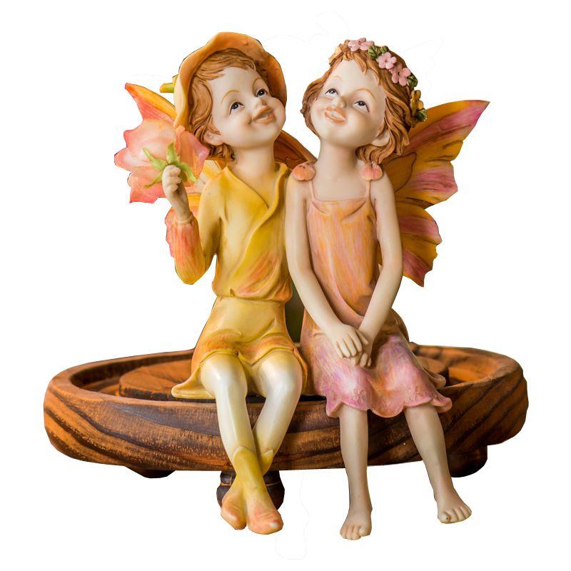Custom factory artificial angel figurines resin crafts