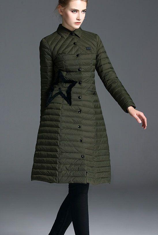 Women's Full-Length Down Puffer Coat