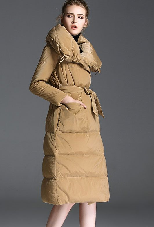 Women's Full-Length Down Puffer Coat