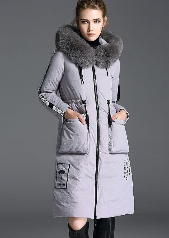 Women's Thickened Long Down Jacket with Hood