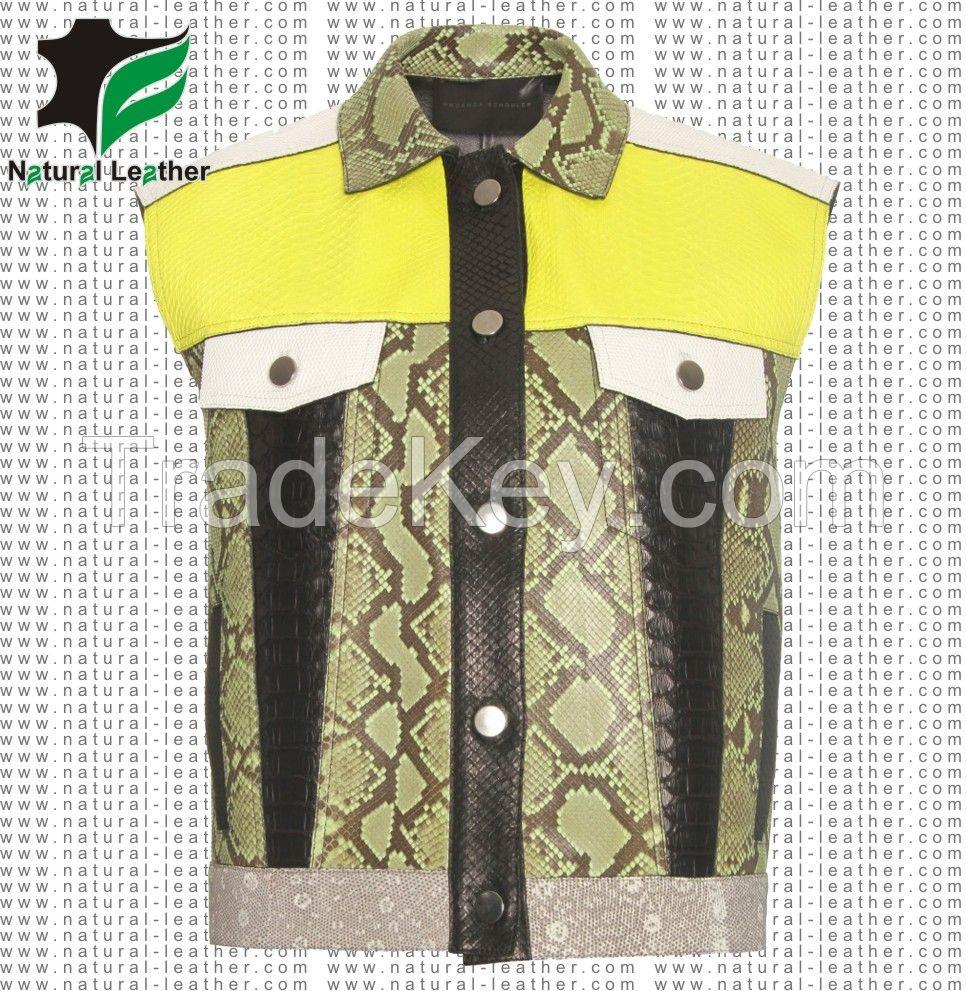 Leather Vest Coat