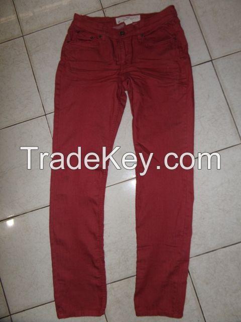 98%cotton 2%spandex twill long pant
