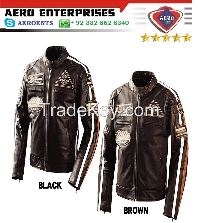 Latest Top Quality Design Motorcycle Leather Jackets