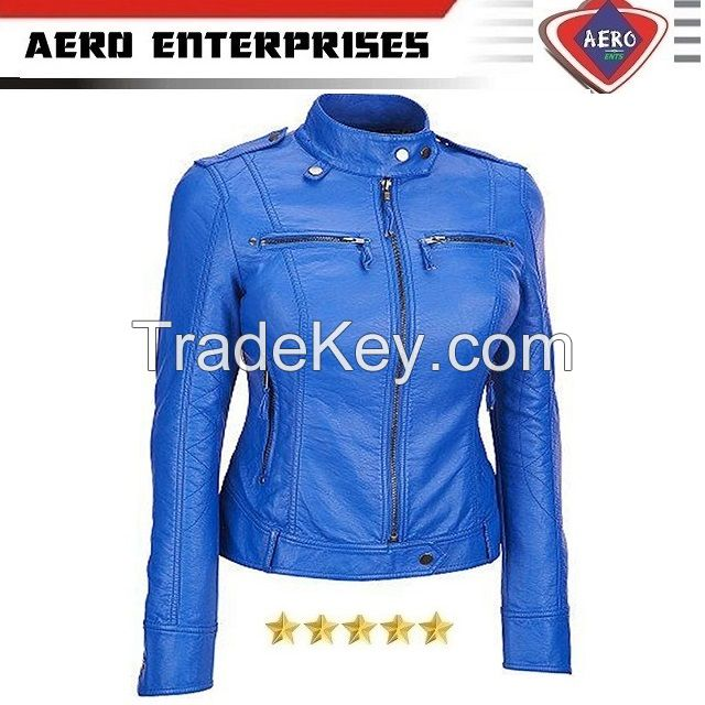 New Design Leather Jacket for Women