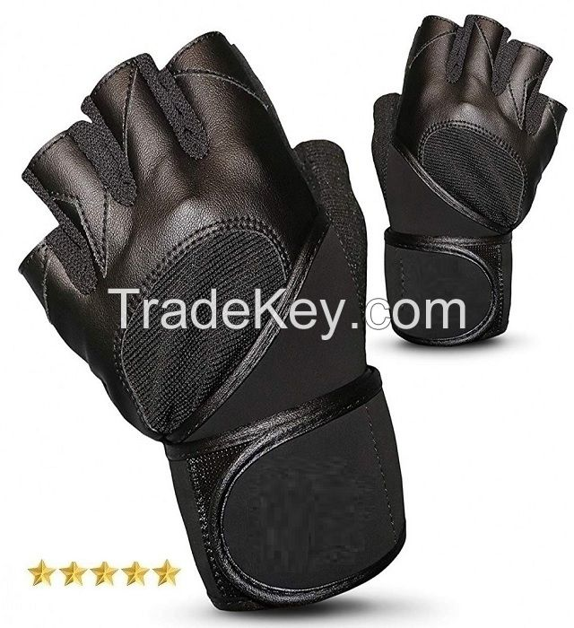 Top Quality Leather Weightlifting Gloves