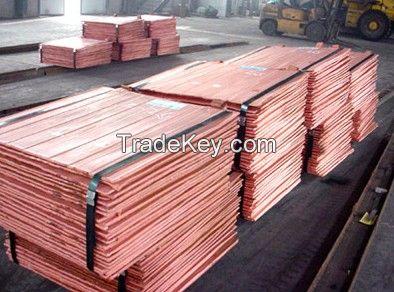 Copper Cathode High Purity 99.99% Grade a Good Quality