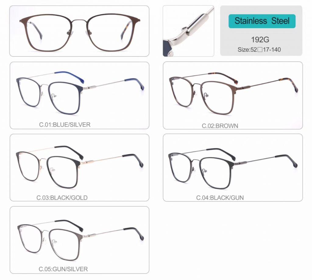 wholesale Stainless Steel Optical Frames metal eyeglasses 192G
