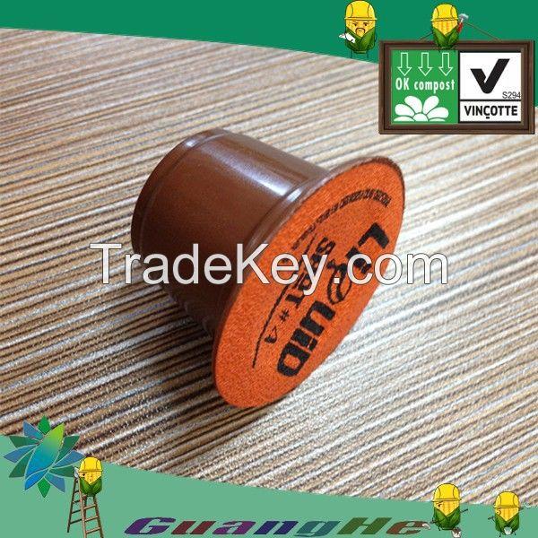 Eco-friendly Nespresso capsule, coffee capsule with holes on bottom