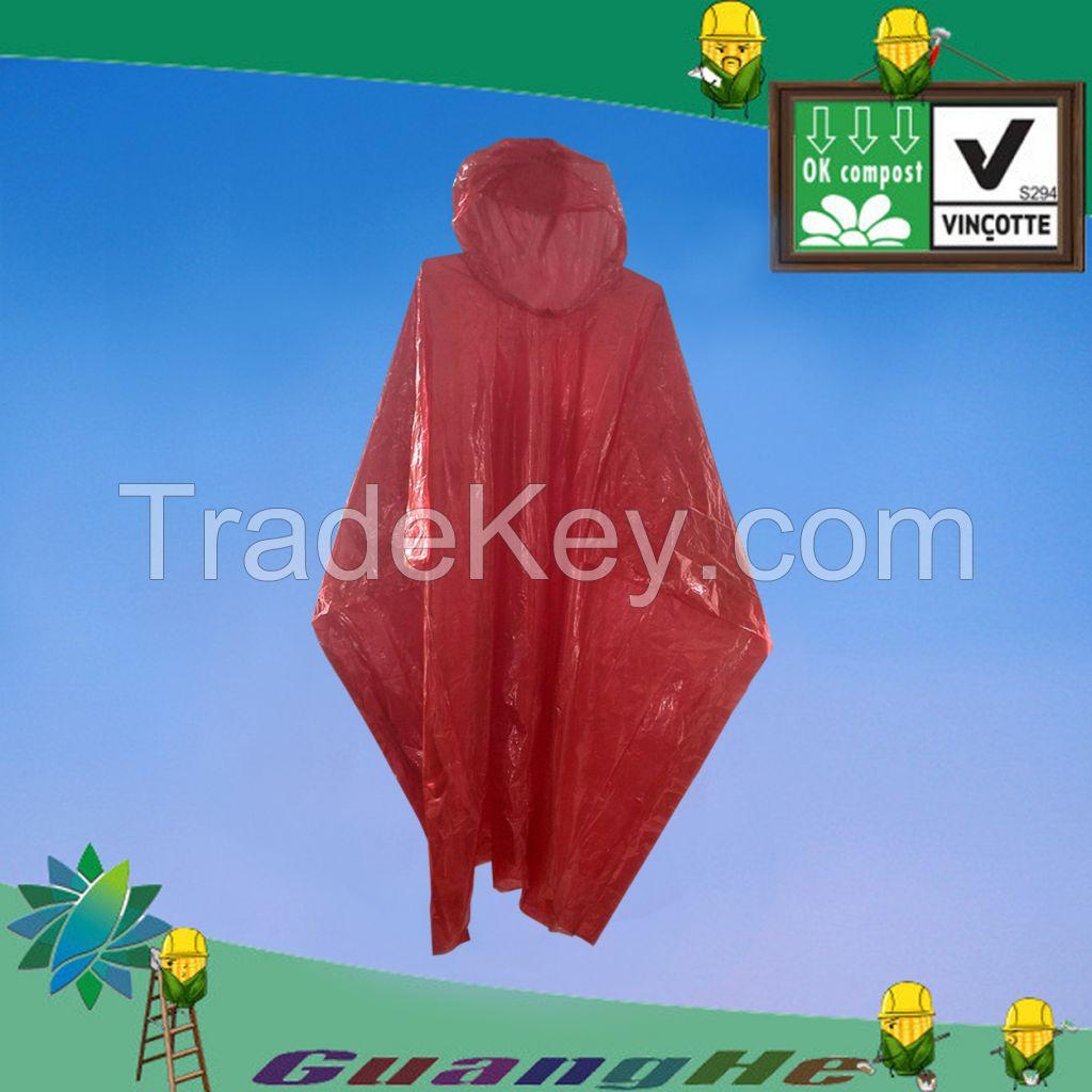 biodegradable PLA raincoat