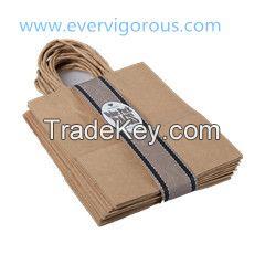 handle paper bag, twist handle kraft paper bags, shopping bag with handle