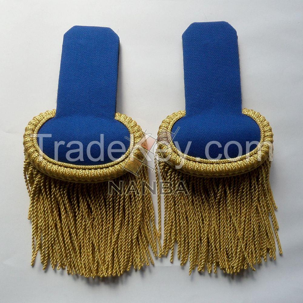 Uniform Epaulette Shoulders Blue with Gold
