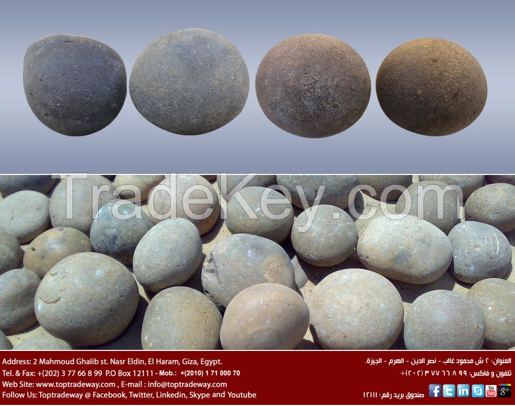 High Silica Grinding Pebble Stones
