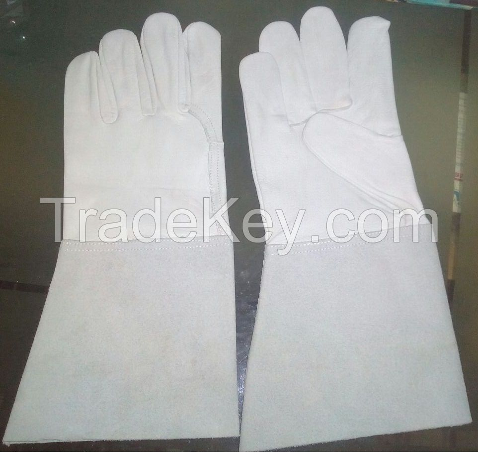 Sell heavy duty leather palm welding glove industrial leather hand