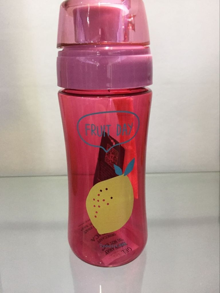 Tritan plastic drinking bottle