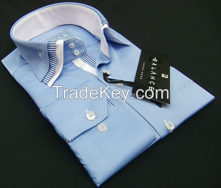 Triple collar men's shirts
