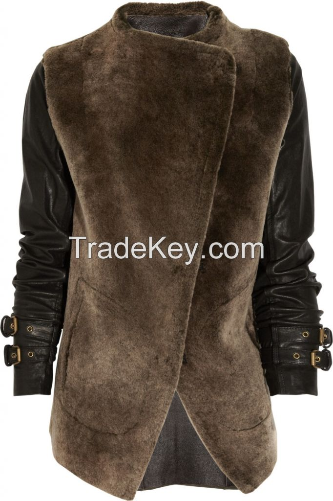 sheep skin leather clothing
