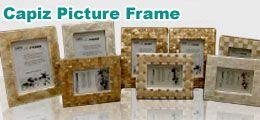 Inlaid Capiz Picture Frame