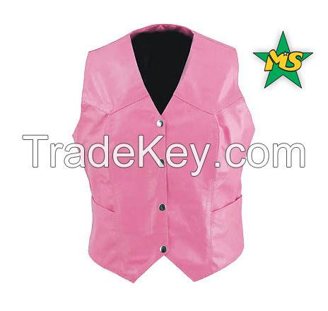 Ladie's Leather Vests Leather Garments Leather   Motorbike Garments Gloves Collection Leather Accessories  Sportswear