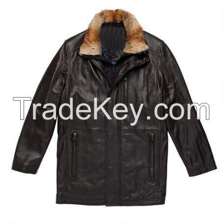 Winter Womens Long Warm  Leather Sleeve Jacket Coat With Belt