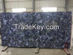 Floor Wall material Sodalite Blue Granite, Blue Bauia, Azul Bahia Brazil slabs