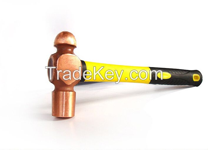 Sell Red Copper Ball Pein Hammer , Non sparking Safety Tools