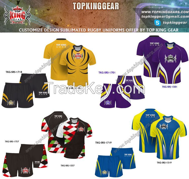 American Sublimated Rugby Jersey And Rugby Shirt