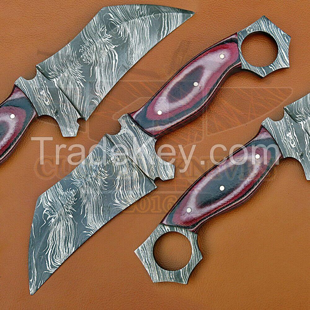 Custom Hand Made Damascus Steel Knife