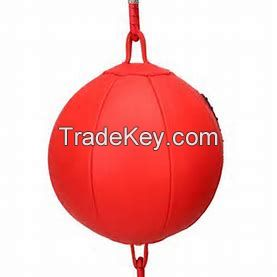 Boxing Speed Ball Double End with straps made Artifical leather