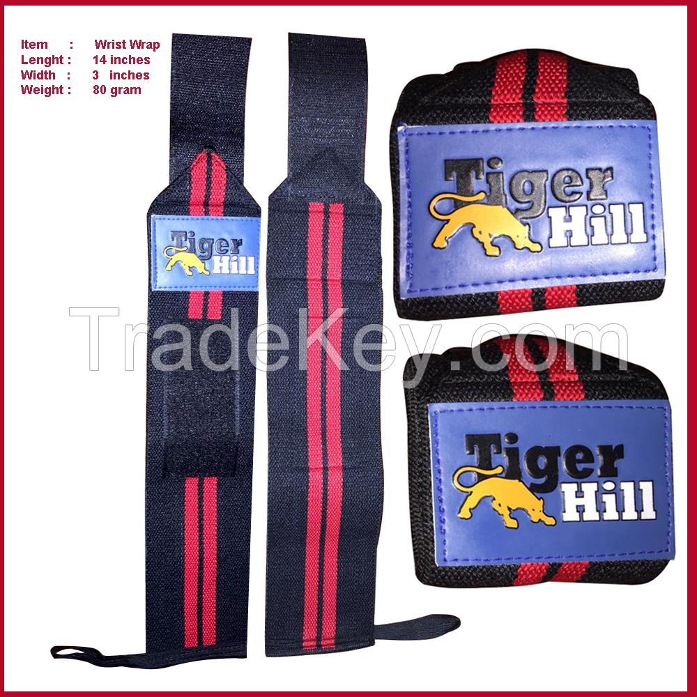Weight Lifting Wrist Wraps Stretchable With velcro fastening and Thumb loop 3 inches