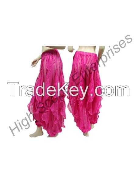 Belly Dance Women wave Harm Pant made satin Polyester
