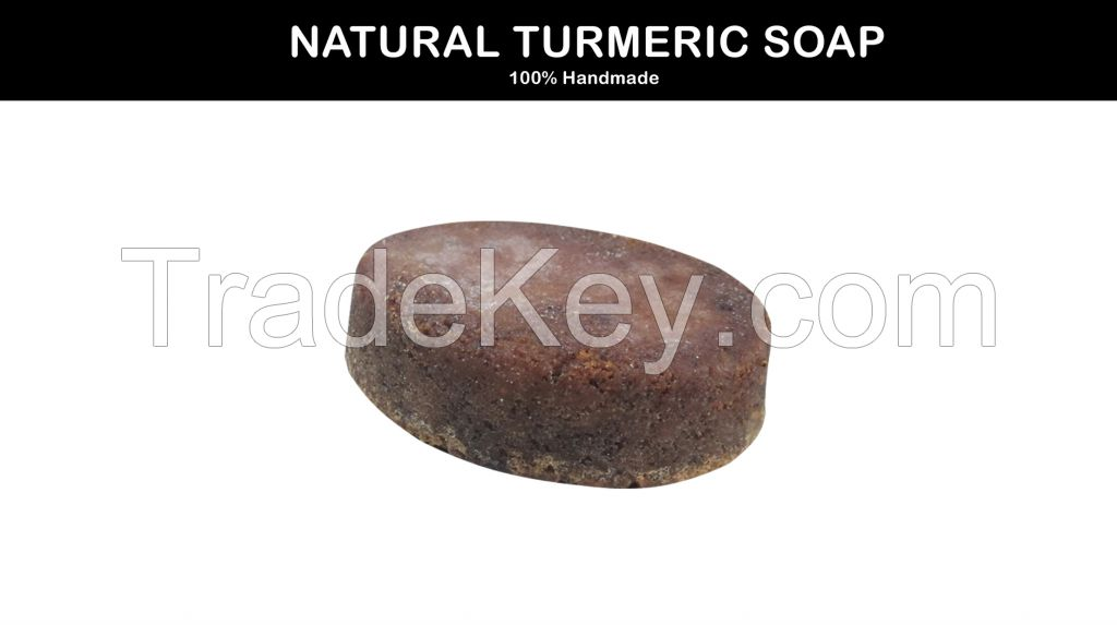 Turmeric &Neem HandMade Soap Made of Coconut, Olive, castor and caola oils for Acne , pimple and Psoriasis