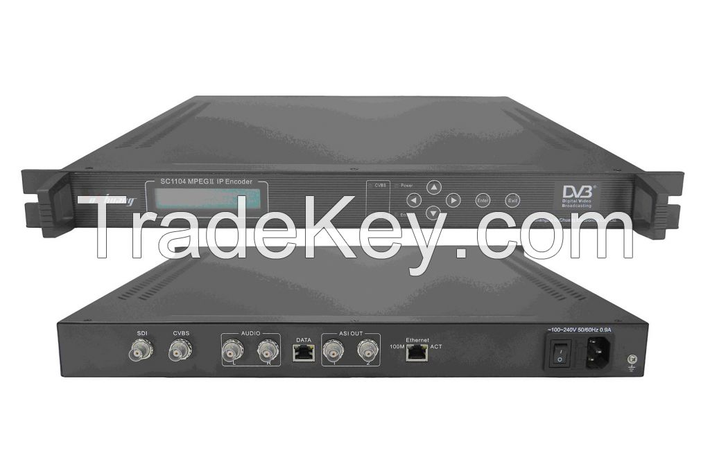 MPEG-2 IP Encoder(SDI+AV in, ASI+IP(UDP) out)