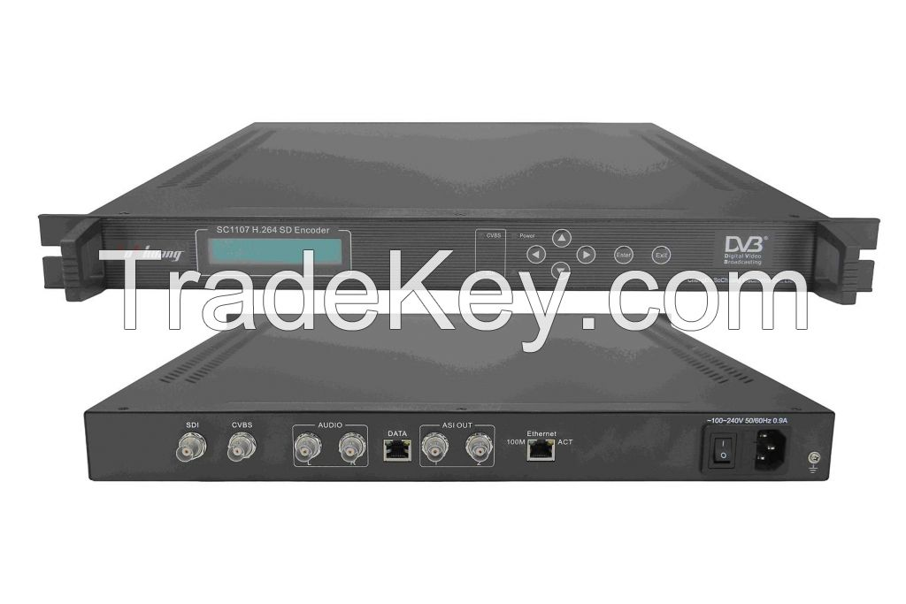 SD H.264 1-Channel IP Encoder(MPEG-4 AVC, AV+SDI in, IP(UDP)/ASI out)