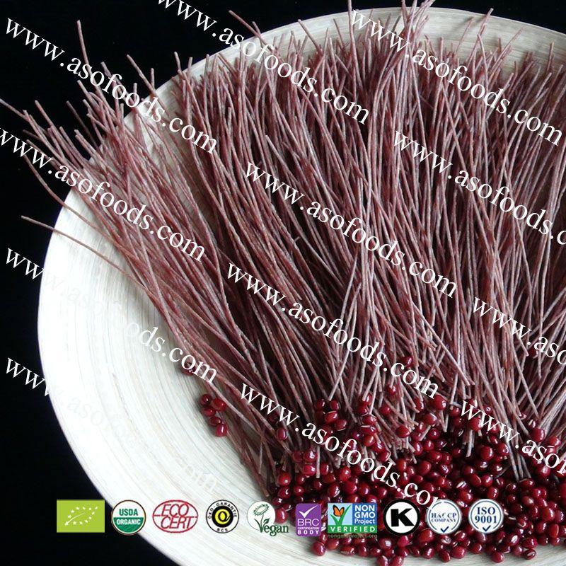 Organic red bean/Adzuki spaghetti exporter to European countries and US market