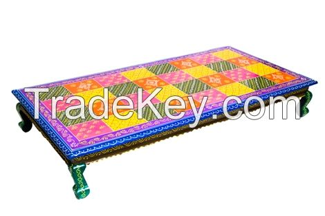 WOODEN PAINTEDLOW SEETING TABLE