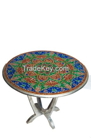 wooden painted  meena table