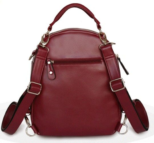 casual pu leather pu backpack for women
