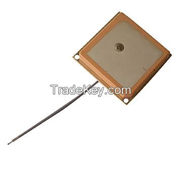25x25x4mm GPS ceramic antenna with I-PEX, 1.13mm coaxial cable