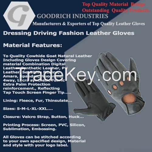 Leather Dressing Driving Gloves