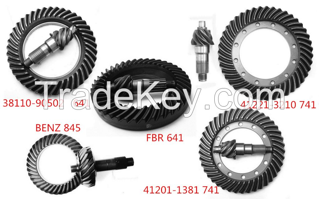 crown wheel and pinioin gear for HINO, NISSAN, etc.