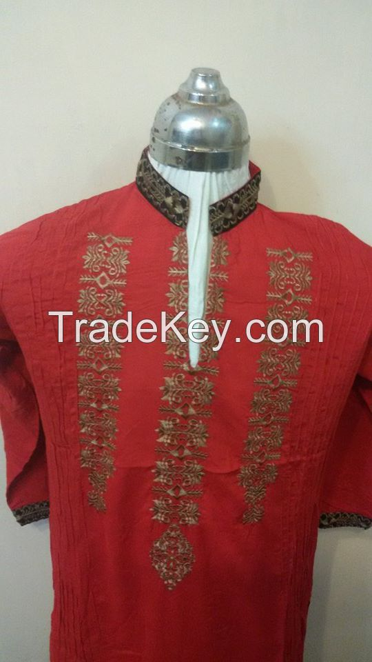 Kurti with Embroidery and stitched