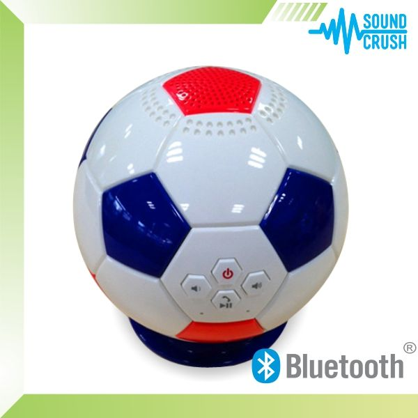 China manufacturer for 2014 new gadget, customized soccor bluetooth speaker, promotional supertooth bluetooth speaker