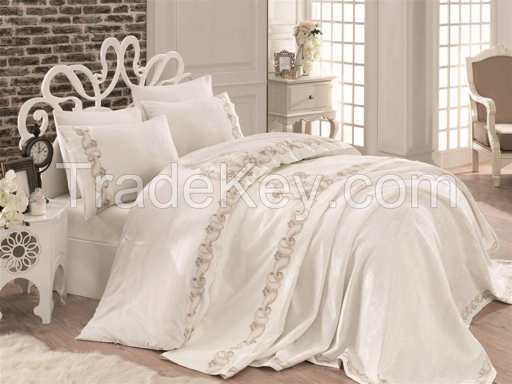 Cotton Satin King Size Bridal Set- Zeren