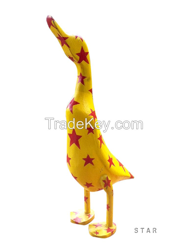 Crazy Duck!!  Hand Carved Bamboo Root with Hand Painted
