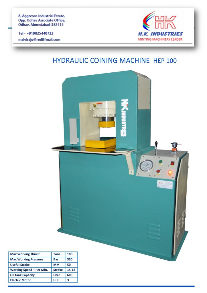 gold silver coin bar making hydraulic press machine By HK